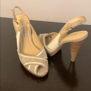 Via spiga size 4 heel sandals
